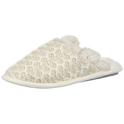Nine West Women's Textured Knit Closed Toe Scuff with Ruffle Slipper, Muslin-3, S Regular US   Slippers
