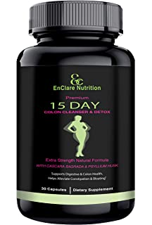 Detox and Colon Cleanse for Weight Loss, Reduce Belly. Extra Strength Diet Pills with