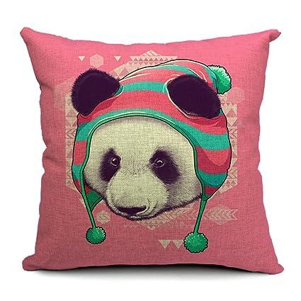 Y 1 BOA-Funda de almohada Panda-Cojín desenfundable Magenta ...