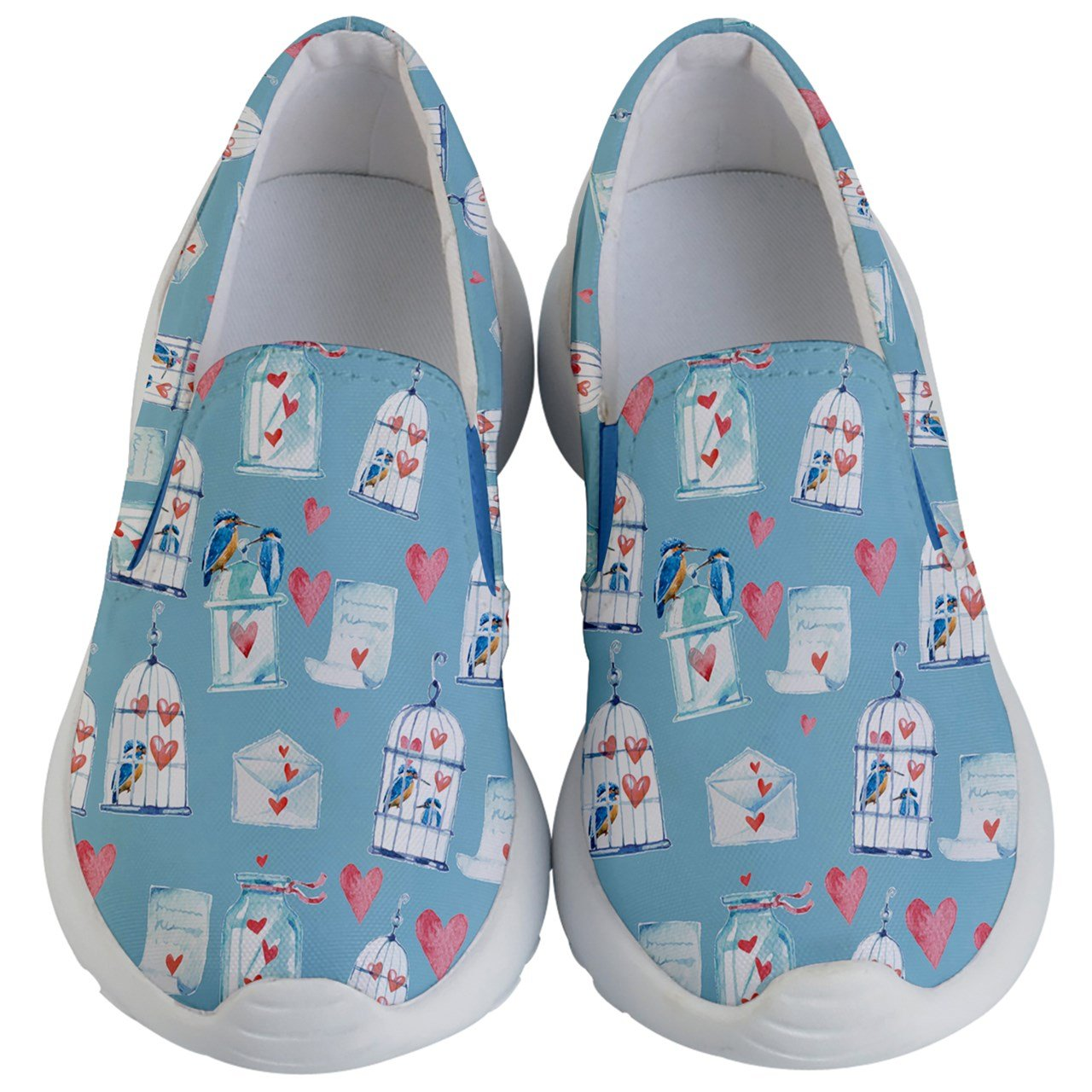 PattyCandy Kids & Toddlers Slip On Love Bird & Cage Lightweight Shoes-US 5.5Y