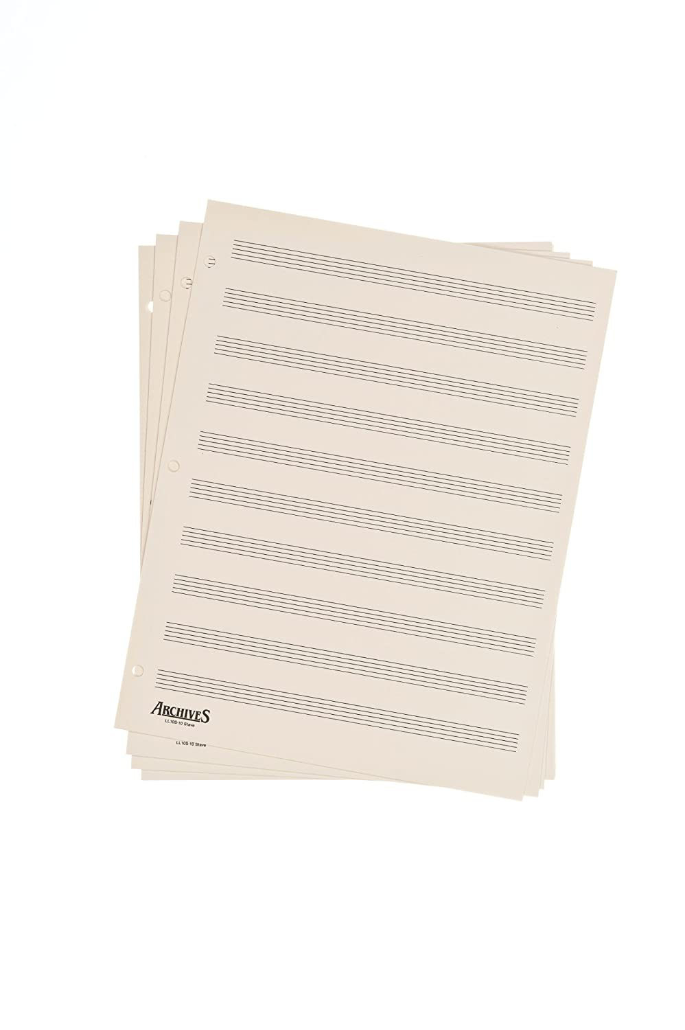 Archives Looseleaf Manuscript Paper, 10 Stave, 50 Pages D'Addario UK Ltd LL10S