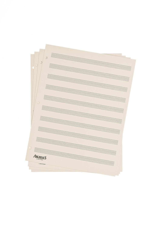 Archives Looseleaf Manuscript Paper, 10 Stave, 50 Pages D'Addario UK Ltd LL10S