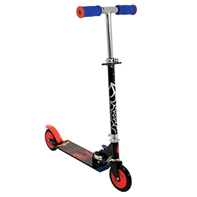 MV Sports Marvel Spiderman Folding in Line Scooter Mini Scooter Ages 5 Years+: Toys & Games