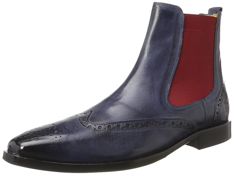 Melvin  Hamilton Herren Alex 9 Chelsea Boots Blau (Remo Navy  Elastic Red  Hrs)