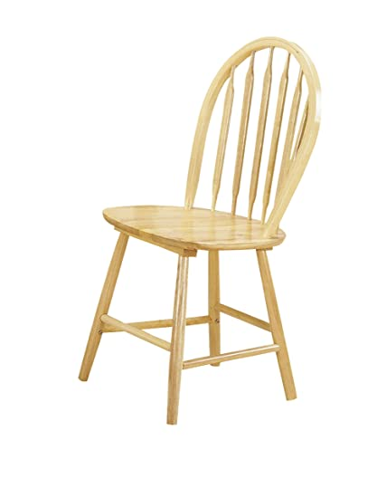 ACME 02482N Set Of 4 Farmhouse Arrow Back Windsor Side Chair, Natural Finish