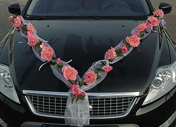 Amazon De Rosen Girlande Auto Schmuck Braut Paar Rose Deko