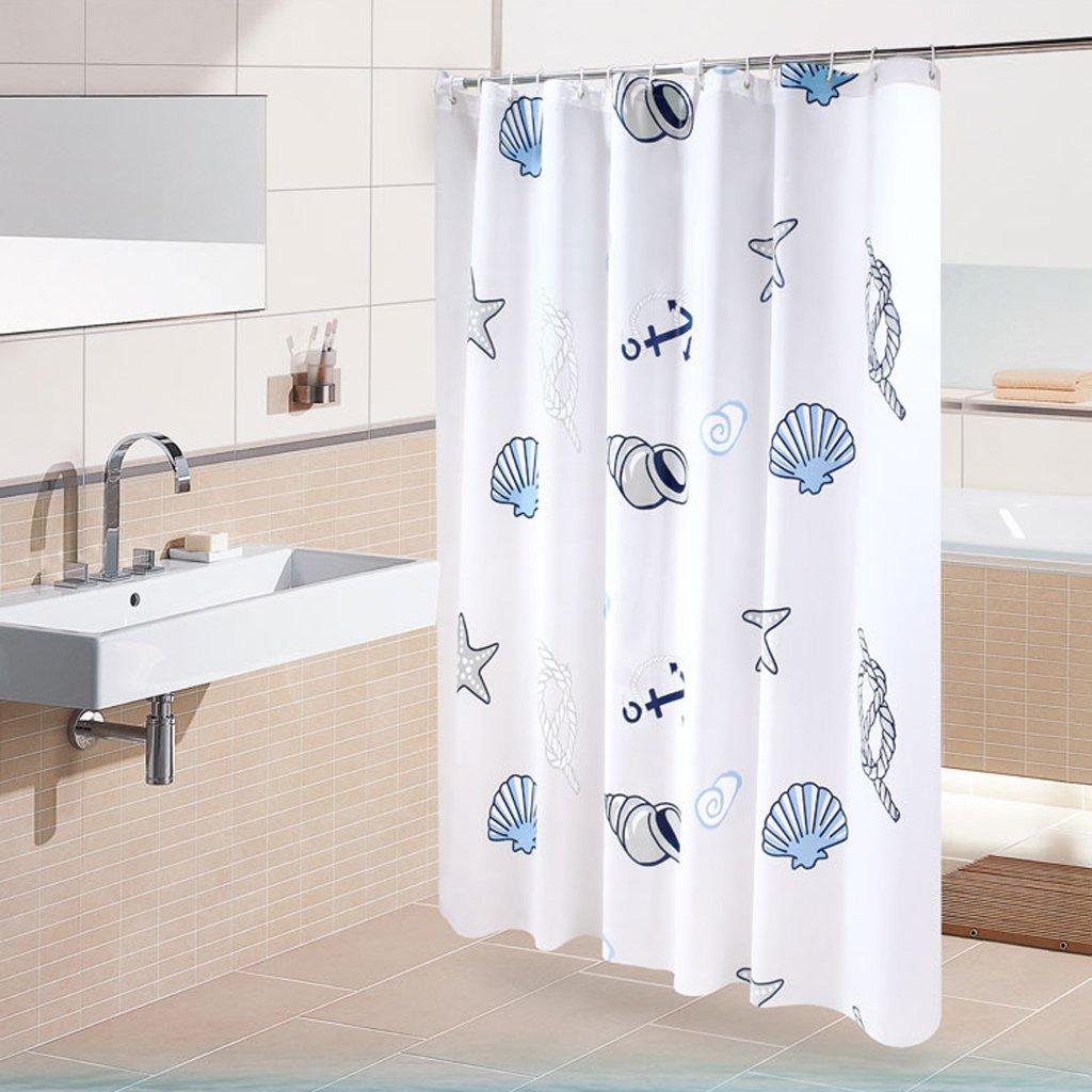 Curtain Shower Curtain, Waterproof Mildew Shower Curtains, Thickened Bathroom Shower Curtain Shower Equipment (Size : 180180cm)