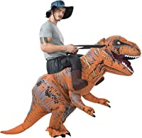 71ZyOp%2B9kIL._AC_UL200_SR160200_ amazon com rubie's jurassic world t rex inflatable costume, multi