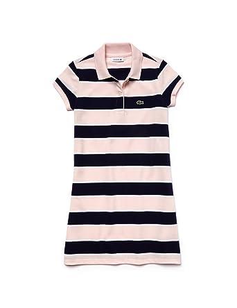 Lacoste Ej2811-vestido Niños Rosa WXN Flamant/Blanc-Penombre ...