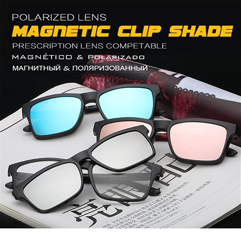 Amazon.com: 2 In 1 Magnetic Clip on Polarized Sunglasses Opical ...