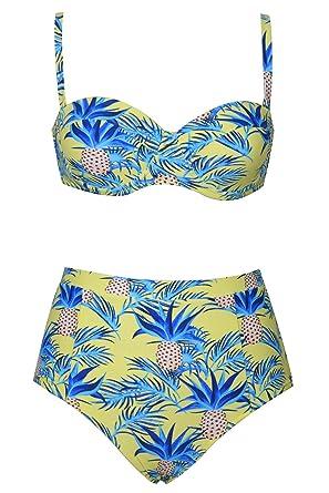 1c0970d5b79 Cupshe Fashion Women's Pineapple Strange Bikini Set Beach Swimwear Bathing  Suit