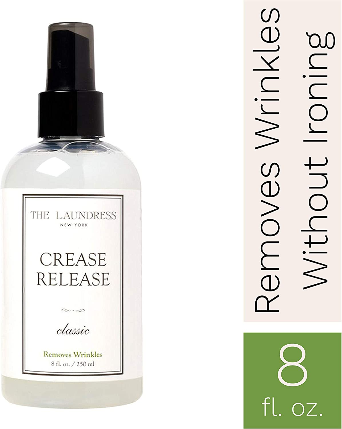 The Laundress - Crease Release, Classic Scented, Wrinkle Release Spray, Shirts, Suits, Curtains & More, Anti Wrinkle Spray for Clothes, Wrinkle Remover Spray, 8 fl oz