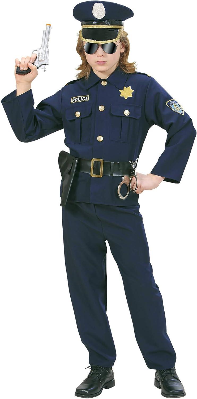 158 cm Camicia Con Cravatta Pantaloni Cappello POLIZIOTTO - Kids Polizia Poliziotto Costume