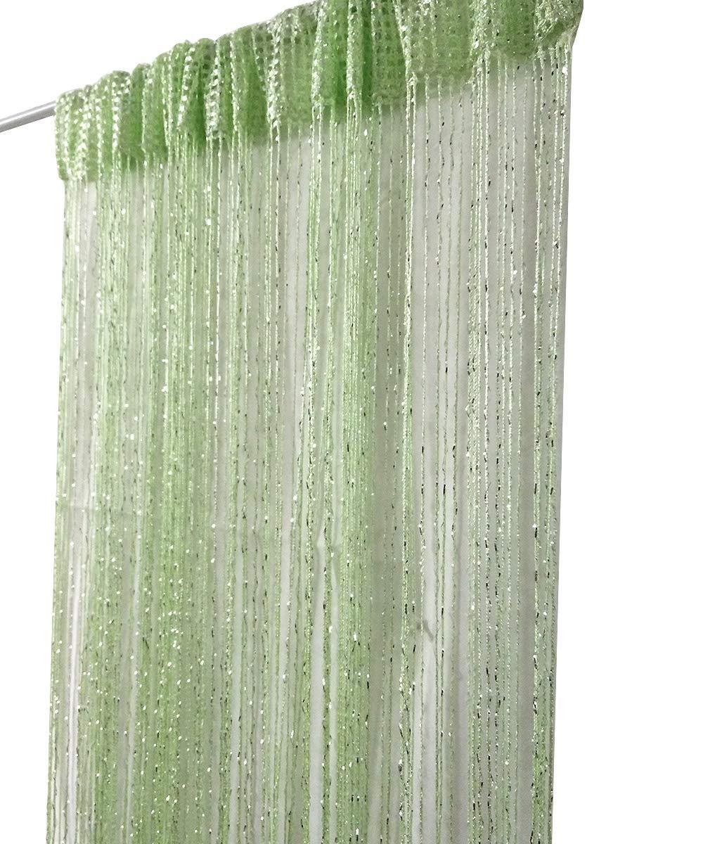 Eve Split Decorative Door String Curtain Beads Wall Panel Fringe Window Room Divider Blind Divider Crystal Beads Tassel Screen Home 100cm200cm(champagne) COMINHKPR120942