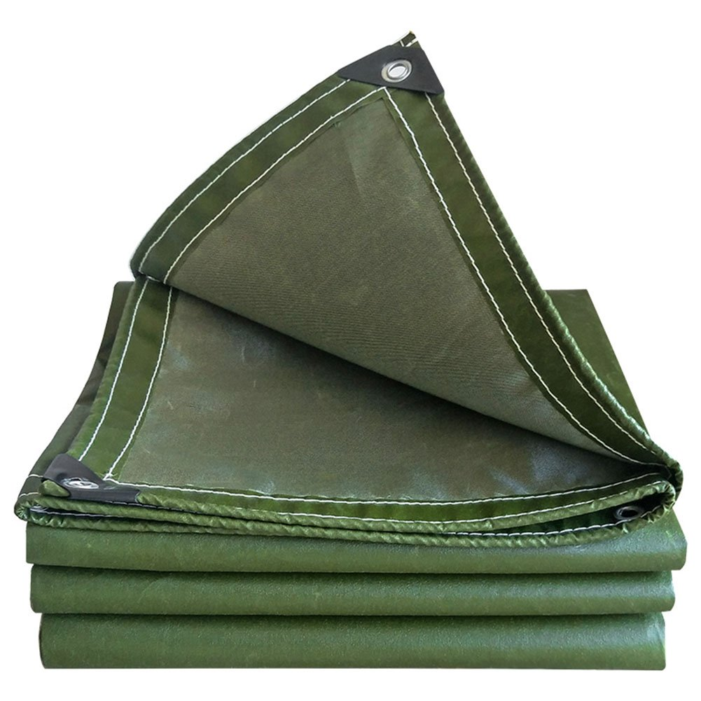 KKCF オーニング 防水 日焼け止め 厚い 引裂抵抗 ポリエステル 、厚さ:0.7±0.03mm 、550±30g / M 2 、5サイズ (色 : アーミーグリーン, サイズ さいず : 3.8x3.8m) B07FXX79RS  アーミーグリーン 3.8x3.8m