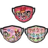 SEGMOO The Powerpuff Girls Outdoor Activities Face Cover Mouth Guard Bandanas Dustproof Scarf Balaclava Neck Gaiter