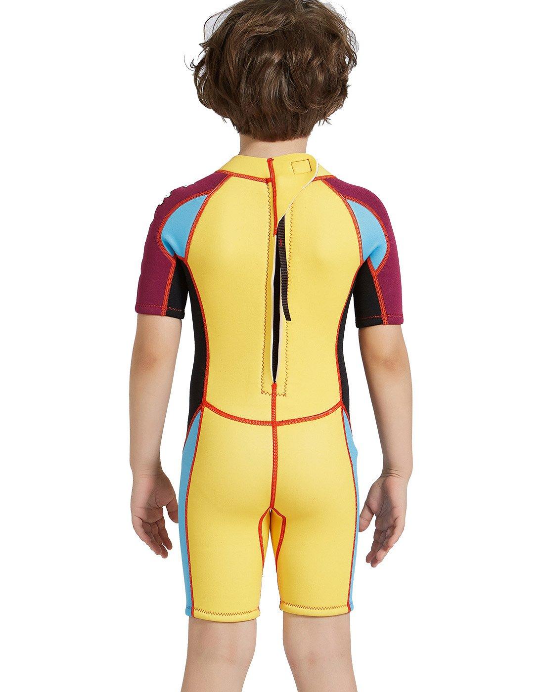 DIVE /& SAIL Kids 2.5mm Warm Wetsuit One Piece UV Protection Shorty Suit DIVE/&SAIL