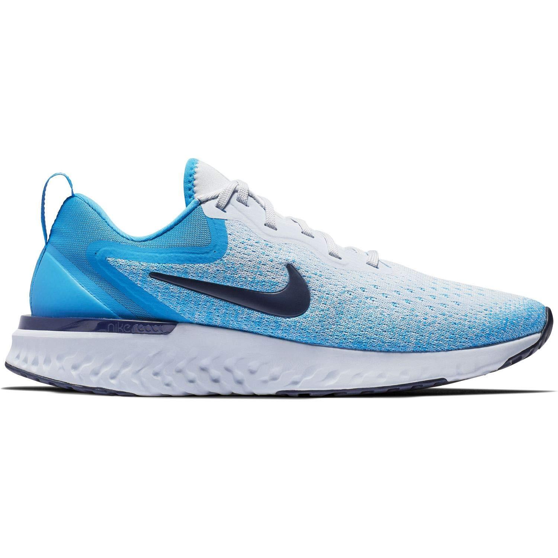 Nike Wmns Odyssey React, Hausschuhe de Running para damen MultiFarbe (Football grau Blau Void Blau Hero 006)