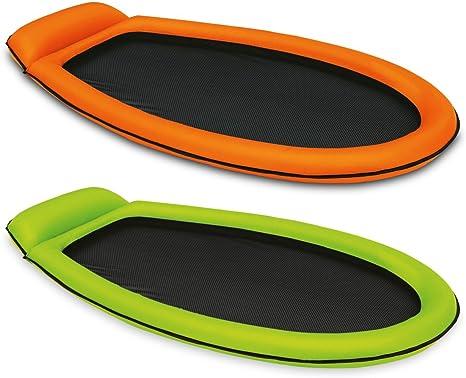 Intex Materasso gonfiabile con Rete amaca piscina Colori Assortiti
