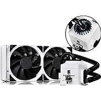 DEEPCOOL Captain 240EX White AIO Liquid CPU Cooler 240mm Radiator Dual 120mm PWM Fans White AM4 Compatible 3-Year Warranty