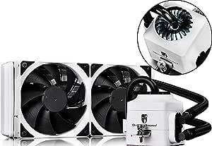 DEEPCOOL Captain 240EX Refrigeración Líquida CPU Silencioso AIO de Alto Rendimiento con Bomba LED Blanco, 2(120mm) PWM Ventiladores Silenciosos(AM4 Compatible ...