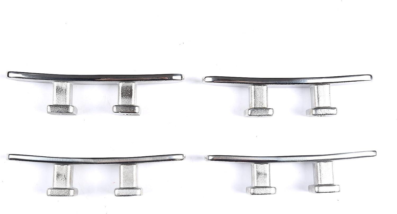 Mxeol Lot de 4 taquets de Bateau en Acier Inoxydable 11,4 cm