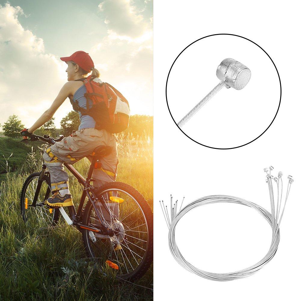 2M Long Cable de bicicleta monta/ña Cables de freno de bicicleta,10 Pcs Bicicleta Brake Cable Bicycle Braking Line Reemplazo de Reparaci/ón de Alambre Accesorio para Mountain Bicicleta de carretera