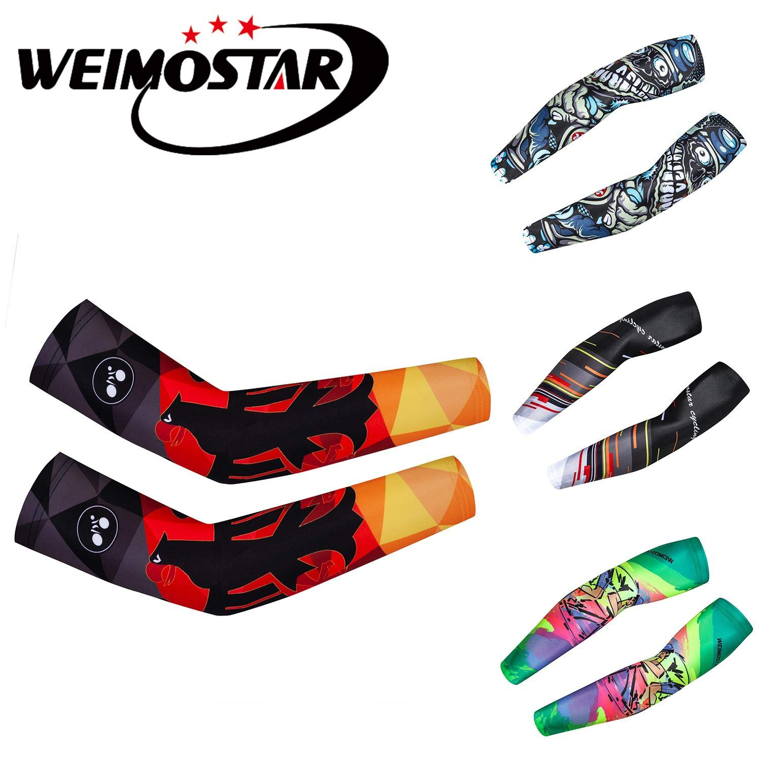 New Sun Protection Cycling Arm Warmers Racing Arm Sleeves Bike Bicycle Arm Cover