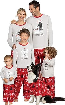PajamaGram - Pijama navideño con diseño de Star Wars, Color Rojo