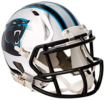 Riddell YTIABNFLMS-PANTHERS2018CHROME 95855607092 Speed NFL Carolina Panthers - Casco de fútbol, Color Cromado
