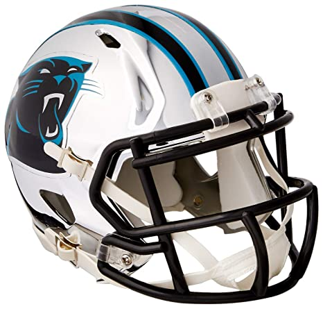 129966ac6e2d3 Image Unavailable. Image not available for. Color  Riddell Speed NFL CAROLINA  PANTHERS Football Helmet Chrome Mini