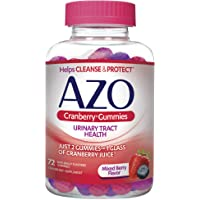 AZO Cranberry Urinary Tract Health Gummies Dietary Supplement | 2 Gummies = 1 Glass of Cranberry Juice | Helps Cleanse…