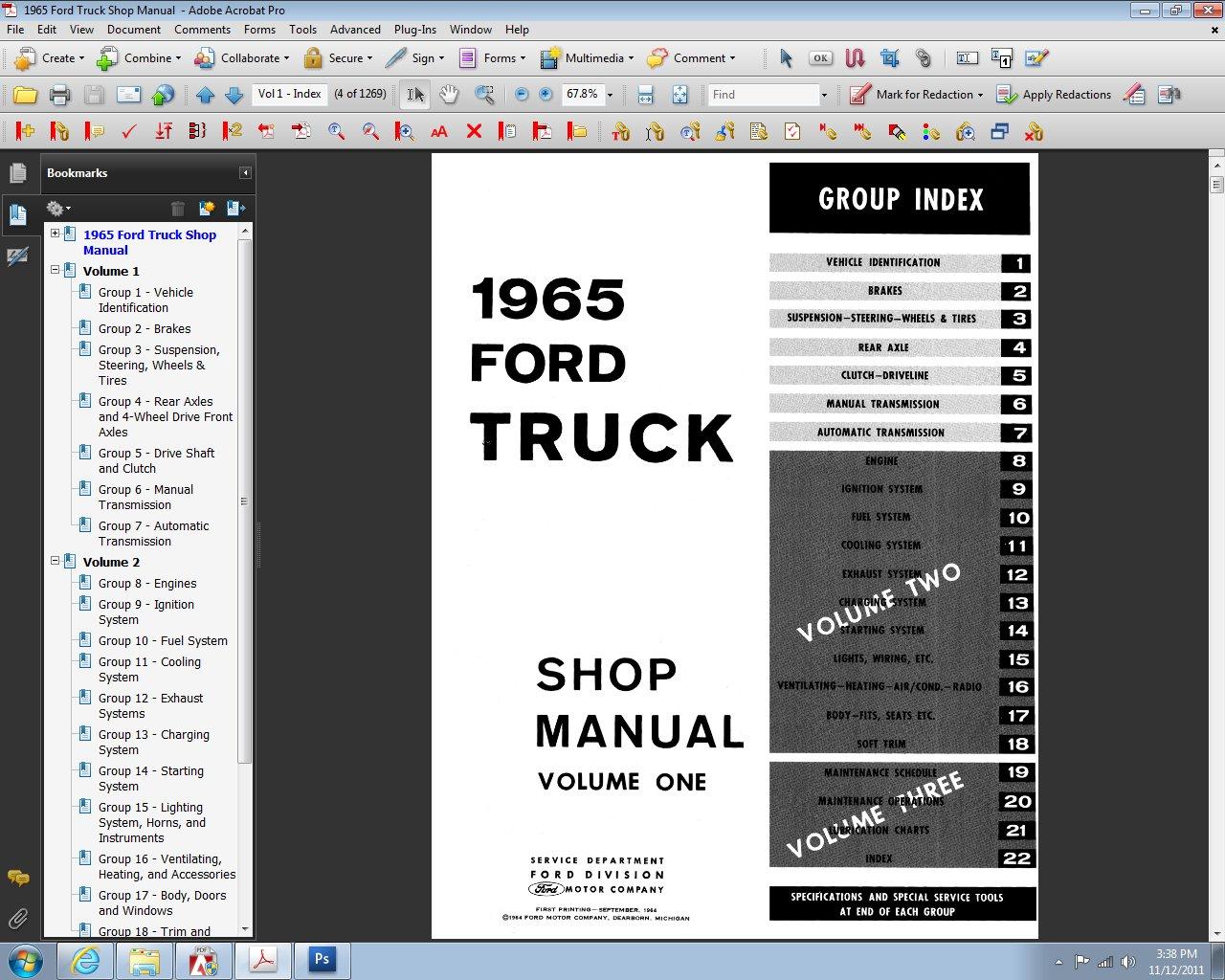 1965 Ford Truck Shop Manual: Ford Motor Company, David E. LeBlanc:  9781603710732: Amazon.com: Books