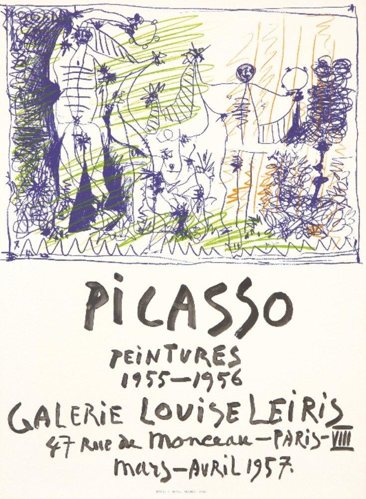 ピカソ – Galerie Louise Leirisヴィンテージポスター(アーティスト:ピカソ)フランスC。1957 36 x 54 Giclee Print LANT-74178-36x54 36 x 54 Giclee Print  B01MG448A6