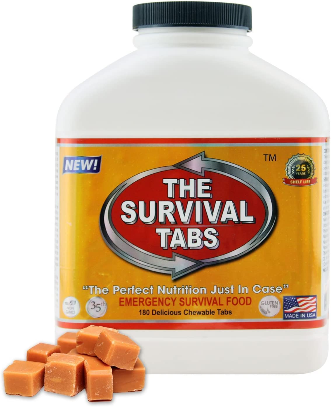 Survival food gluten free and non-GMO survival food 15 days supply butterscotch  exp 25 years