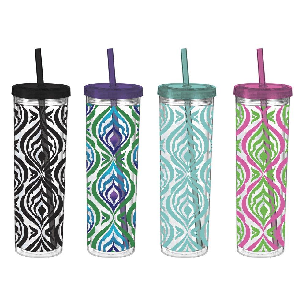 Acrílico colorido cebra vasos térmicos con Skinny con congelador ...