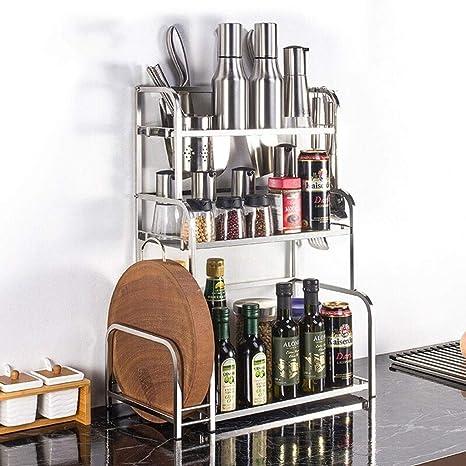 Carrito verdulero cocina Leqi Racks de cocina Pisos de acero ...