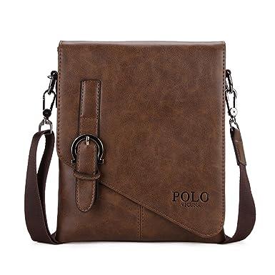 VICUNA POLO - Bolso bandolera marrón marrón: Amazon.es: Ropa y ...