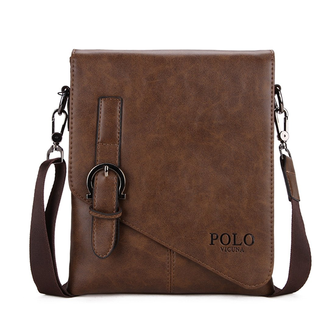 VICUNA POLO Men Shoulder Bag Messenger Bag Men Bag Crossbody Bag For ipad (brown)