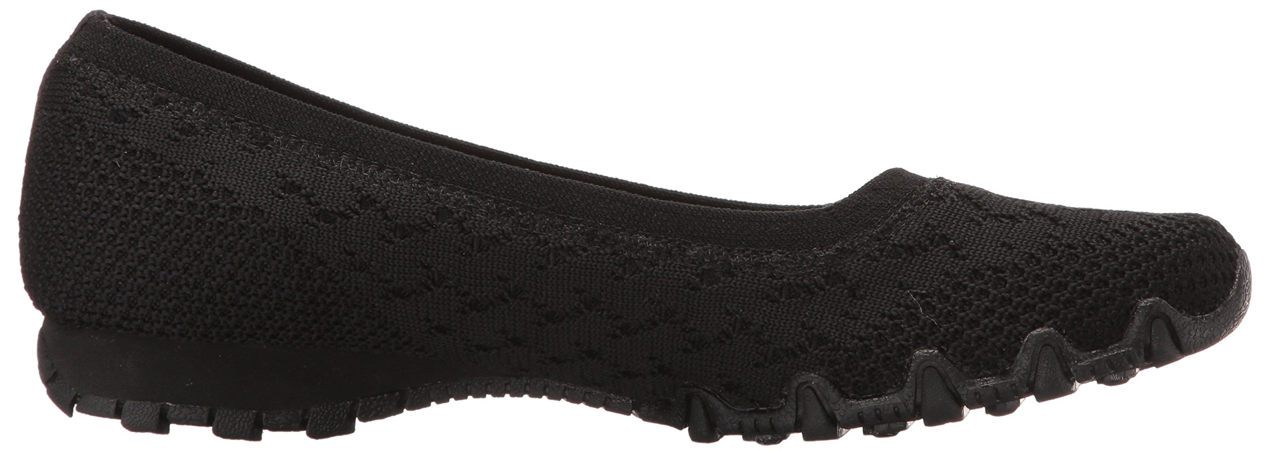 Skechers Women's Bikers-Witty Knit Ballet Flat, black, 10 Extra Wide US by Skechers (Image #7)