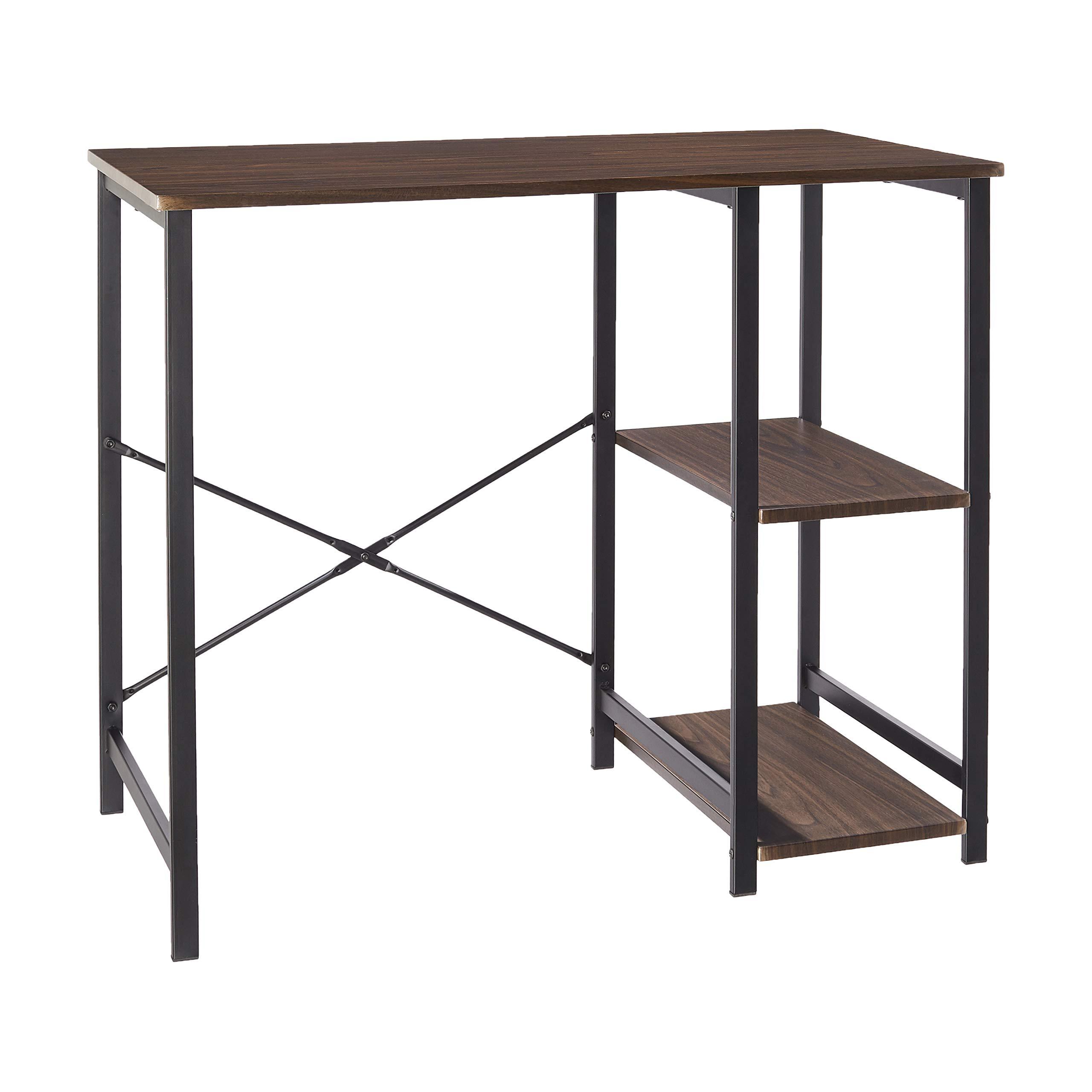 AmazonBasics Classic Computer Desk With Shelves - Espresso by AmazonBasics