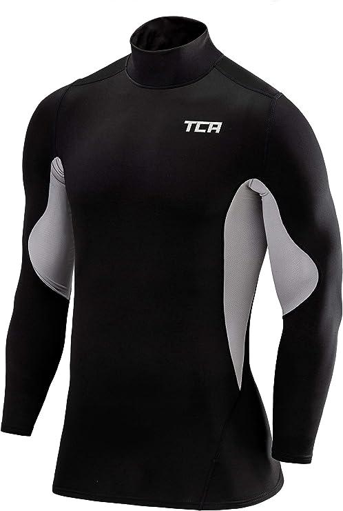 TCA Hombre /& Ni/ños SuperThermal Top Interior T/érmico Da Manga Larga Compression Base Layer Cuello Alto