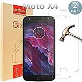 [2 Pack] Moto X4 Pellicola Protettiva , PULEN Premium 9H protezione dello schermo scratch Resistente [0.26mm Protezione Antigraffi Ultra-Clear] Pellicola Vetro Temperato Moto X4