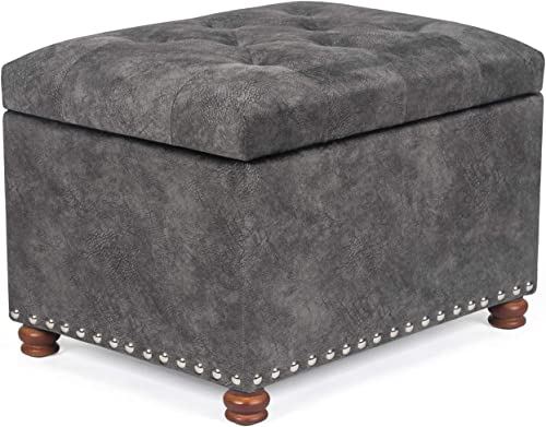 Homebeez Storage Ottoman Bench Foot Rest Stool Coffee Table