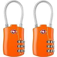 Diyife TSA Luggage Locks, [Newest Version][2 Packs] 3-Digit Security Padlock, Combination Padlocks, Code Lock for Travel Suitcases Luggage Bag Case etc. Orange