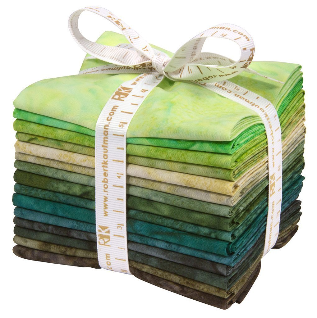 Lunn Studios Artisan Batiks Prisma Dyes Rainforest 15 Fat Quarters Robert Kaufman Fabrics FQ-832-15 by Robert Kaufman Fabrics