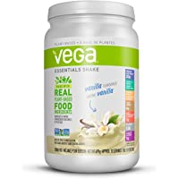 Vega Essentials Nutritional Shake Vanilla (18 Servings, 21.9oz) - Plant Based Vegan protein, Non Dairy, Keto-Friendly, Gluten Free, Non GMO