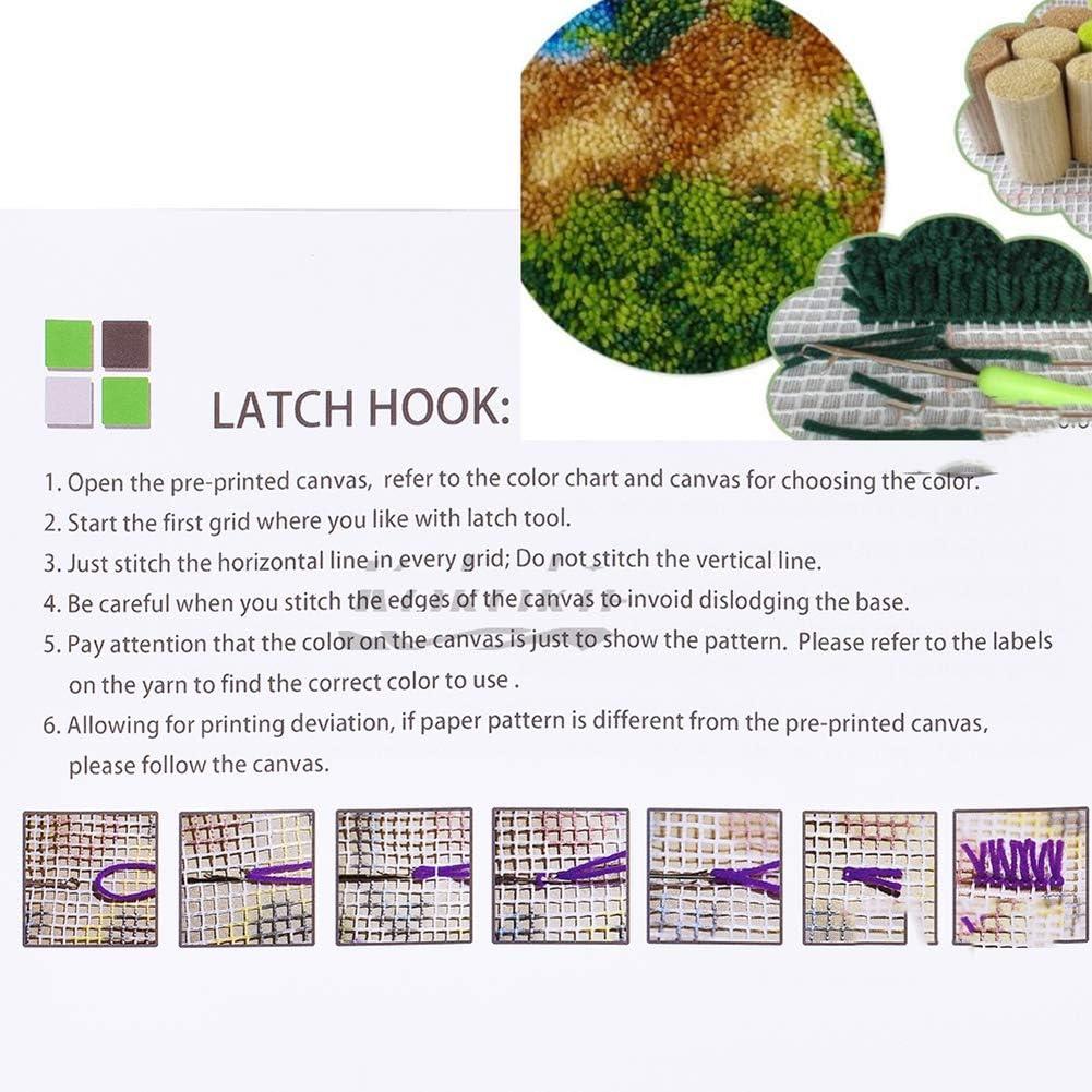 ghdonat.com UR MAX BEAUTY Home Decor DIY Latch Hook Kit Rug Canvas ...