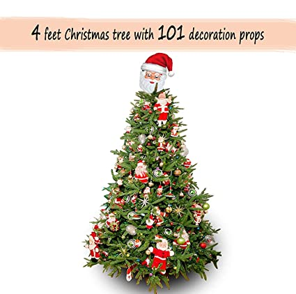 Easymart Christmas Tree 4 Feet with Stand and 101 Decoration Ornaments  Props Xmas Tree - Buy Easymart Christmas Tree 4 Feet With Stand And 101 Decoration