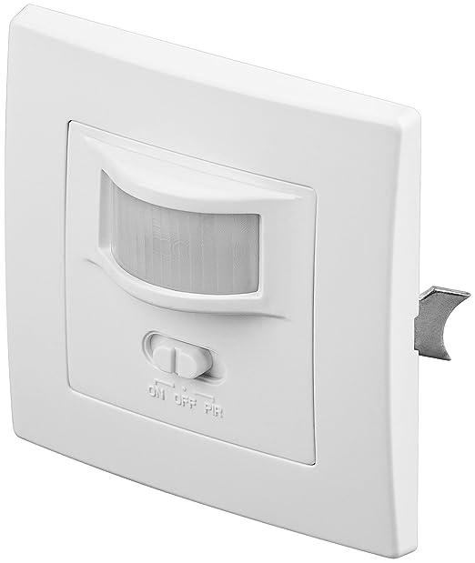 Smart Planet® alta calidad Detector de movimiento de infrarrojos para rasante de montaje en pared; Detección de 160 °, alcance de 9 m, para interior (IP20), ...